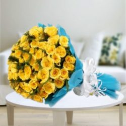 Patna Elegant Yellow Roses Bunch Delivery